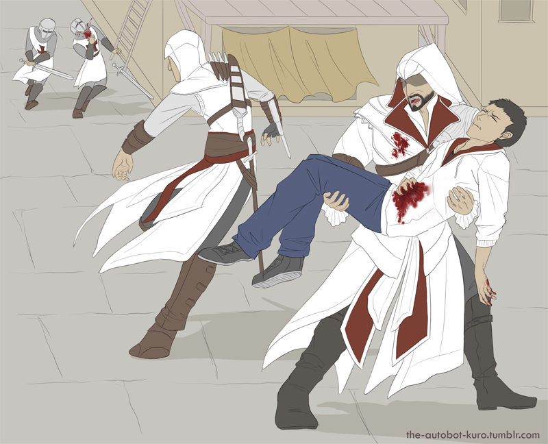 ''Altair, we must go!'' by Kuronyo