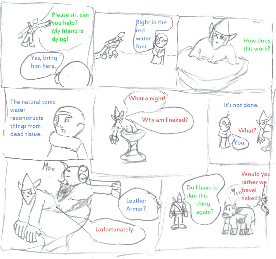 Leather Armor Comic by GoldFishArmada