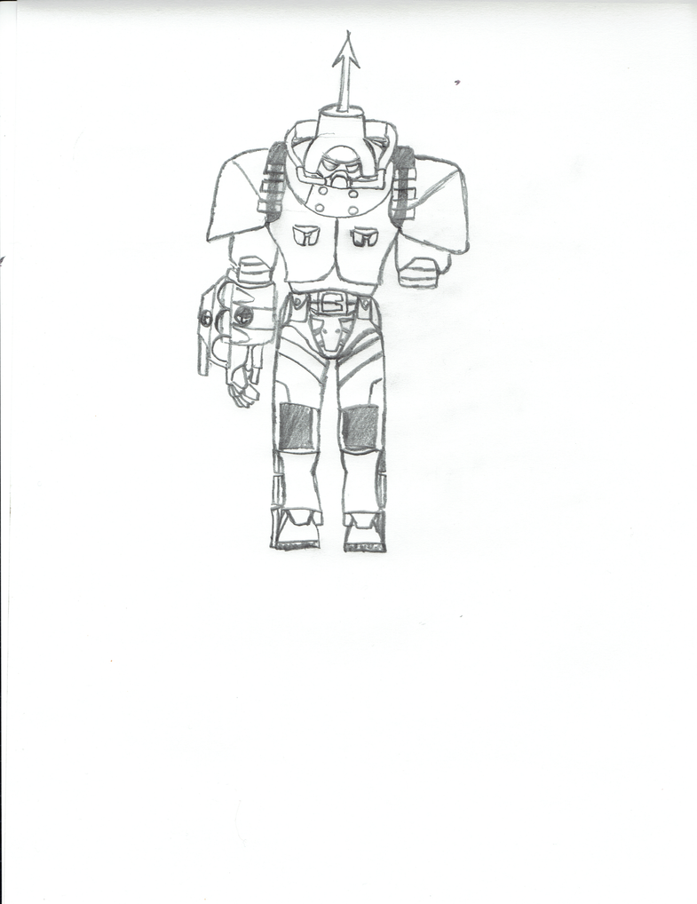 SkullGirls Panzerfaust Fallout 4 Egret Power Armor by GoldFishArmada