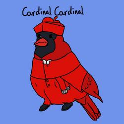 Cardinal Cardinal by GoldFishArmada