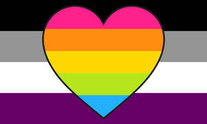 Asexual Panflux-romantic Combo Flag