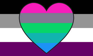 Asexual Polyflux-romantic Combo Flag