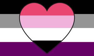 Asexual Recipromantic Combo Flag