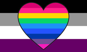 Asexual Multiromantic Combo Flag