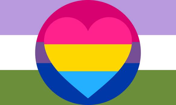 Bisexual Panromantic Genderqueer Combo Flag
