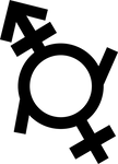 Genderfluid (Androgyne + Girl) Symbol