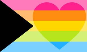 Demipanromantiflux Pride Flag