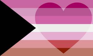 Demiromantic Lesbian Pride Flag