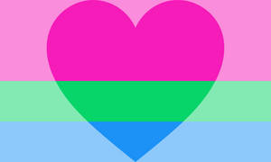 Polyromantic (feminine leaning) Pride Flag