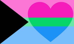 Demipolyromantic Feminine/Masculine Leaning Flag