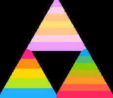 Panfluid Panflux Panromantiflux Triforce by Pride-Flags
