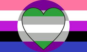Genderfluid Gray Asexual Gray Aromantic Combo Flag