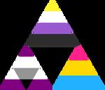 Nonbinary Autochorissexual Panromantic Triforce