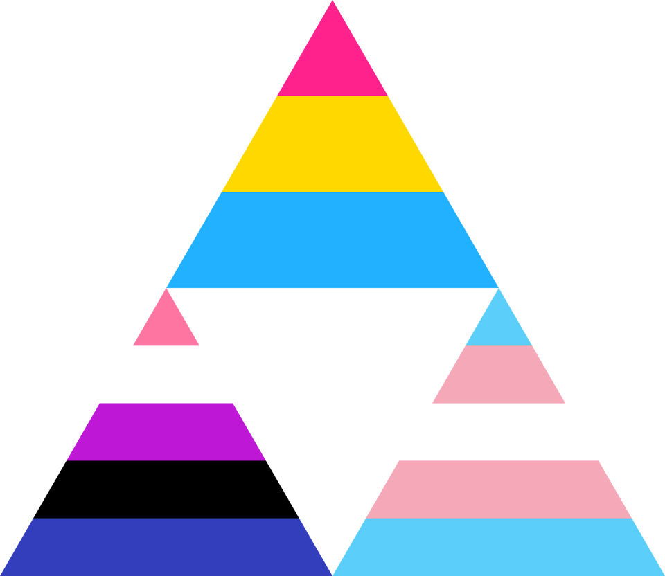 Pansexual Genderfluid Trans Triforce By Pride-Flags On
