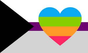 Demisexual Panromantic Combo Flag