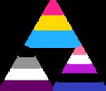 Panromantic Asexual Genderfluid Triforce