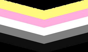 Queerplatonic Queer Chevron (Transparent)
