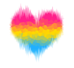Pansexual / Panromantic Glitch Heart