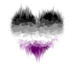 Asexual Glitch Heart