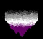 Asexual Glitch Heart