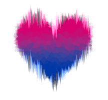Bisexual / Biromantic Glitch Heart by Pride-Flags