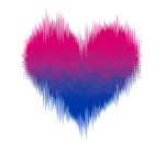 Bisexual / Biromantic Glitch Heart