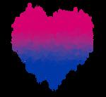Bisexual / Biromantic Glitch Heart