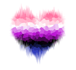 Genderfluid Glitch Heart