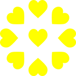 9 Hearts (Used in Nonad Polyamory Flag)