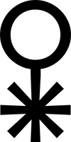 Alchemical symbol for sublimate of copper