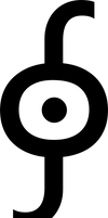 Integral around a point operator symbol