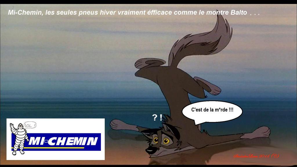 Parodie : Les pneus Mi-chemin Balto by ShalaskaLuna