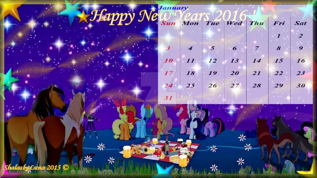 calendar Janvier 2016 by ShalaskaLuna