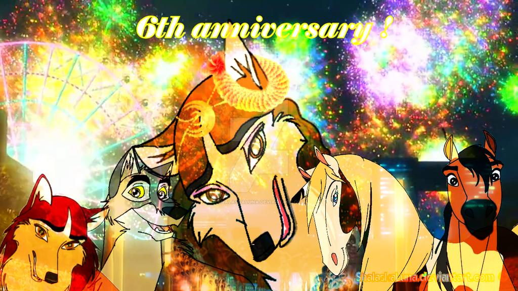 ShalaskaLuna deviantart 6th anniversary by ShalaskaLuna