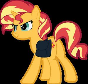 First Ever Sunset Shimmer Frame (full body pony)