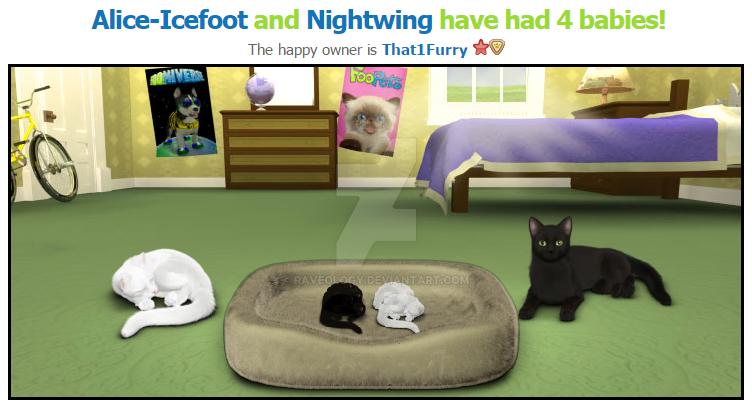 My cats had kitens by Raveology