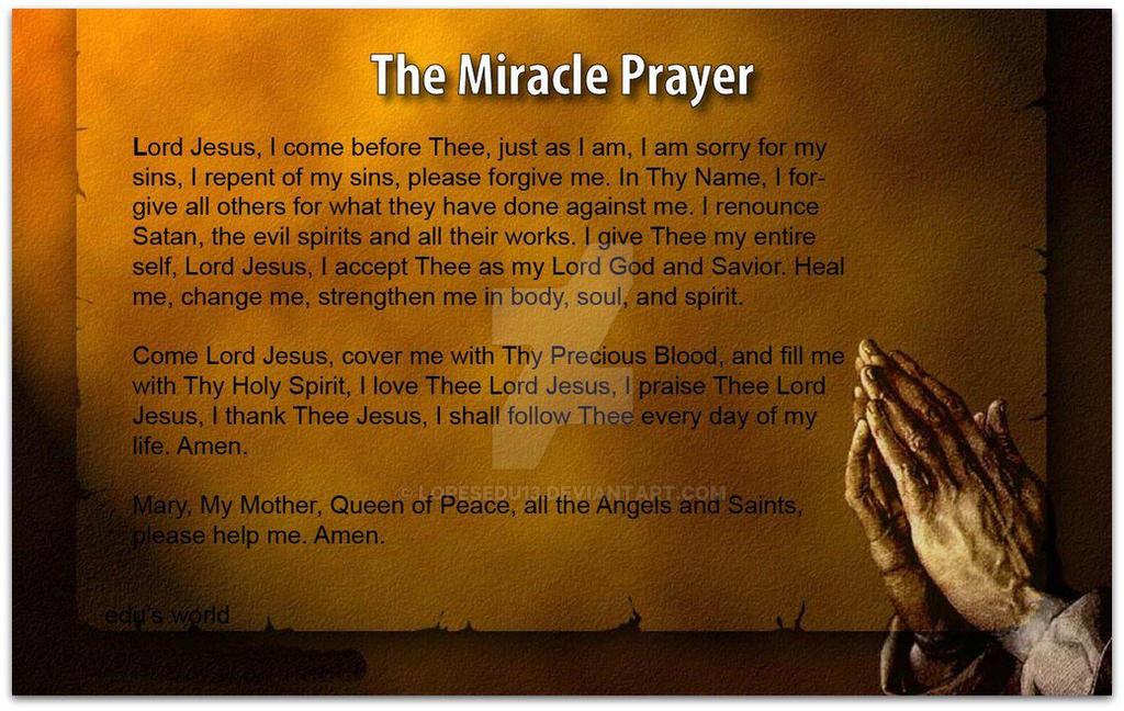 MIRACLE PRAYER by lopesedu13 on DeviantArt