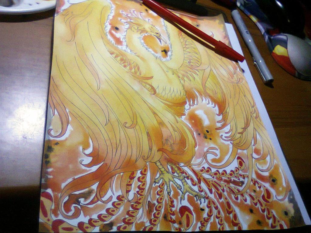 phoenix commission by Mirubefu