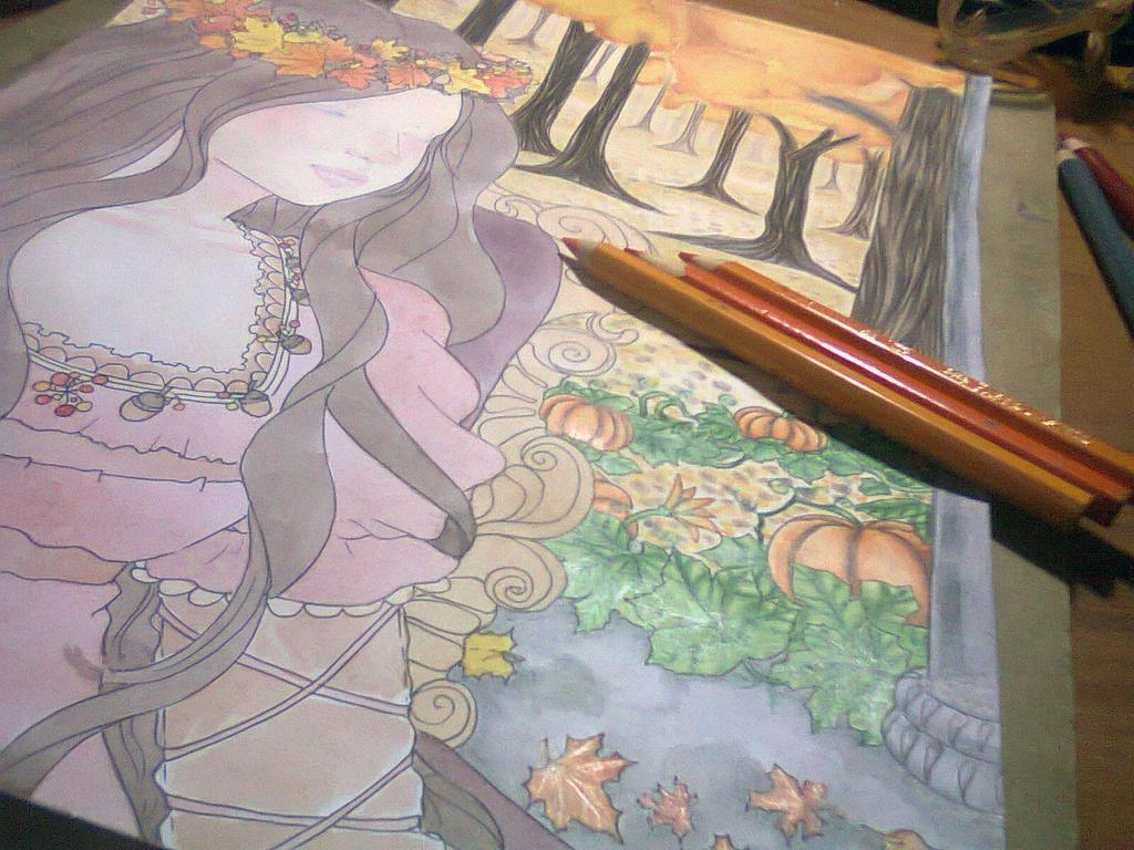 Autum queen progress 2 by Mirubefu