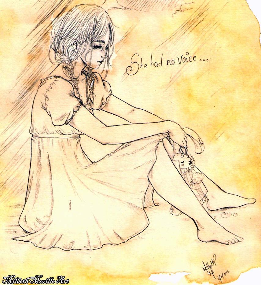 no voice girl sketch by Mirubefu