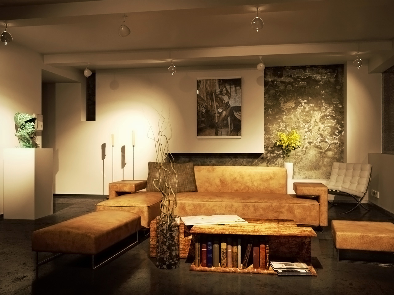Living room night by brown eye architects on deviantart for Living room night