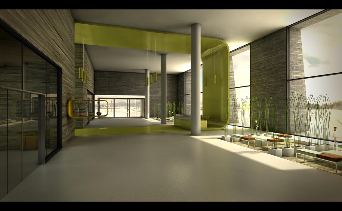 Foyer Architecture : Foyer lobby by brown eye architects on deviantart