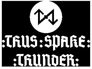 Thusspakethunder-logo White by Folker