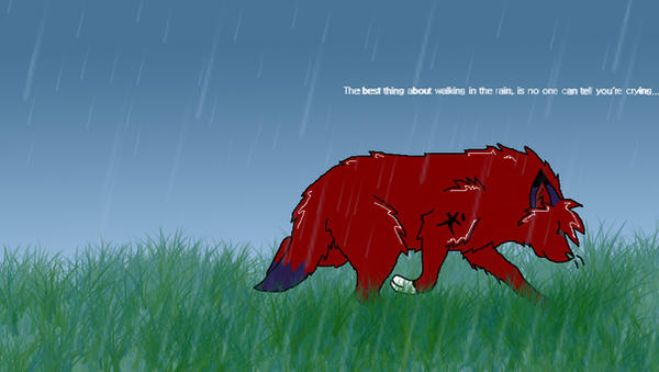 Inuyasha In The Rain by Little-Blue-Wolf