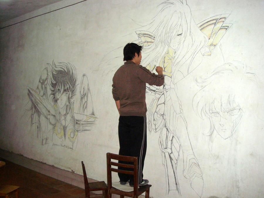 ¿Solo un dibujito chino? no papu! los caballeros son arte