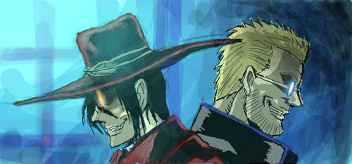 Alucard and Alexander Anderson