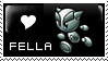 Fella Love stamp by HappyStamp
