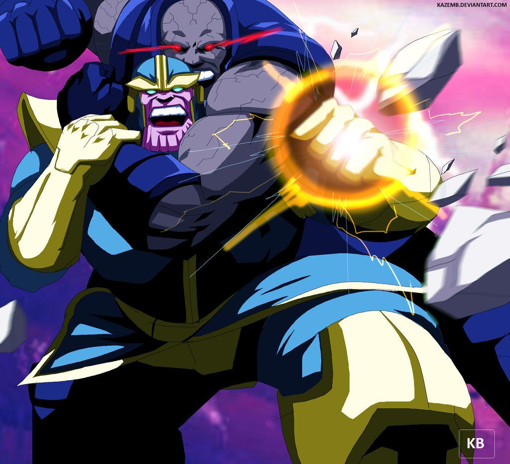 Anime Characters Vs Thanos : Thanos vs darkseid by kazemb on deviantart
