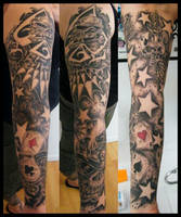 NEW SKOOL TRADITIONAL SLEEVE by TATTOOEDSLUT666