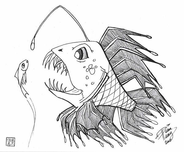 Draw a Scary Fish by Diana-Huang